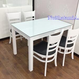 Bộ bàn ăn 4 ghế đẹp hiện đại